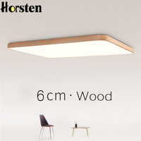 Nordic Simple Modern OAK Wood Ceiling Lamp Ultra Thin Japanese LED Ceiling Lights For Bedroom Living