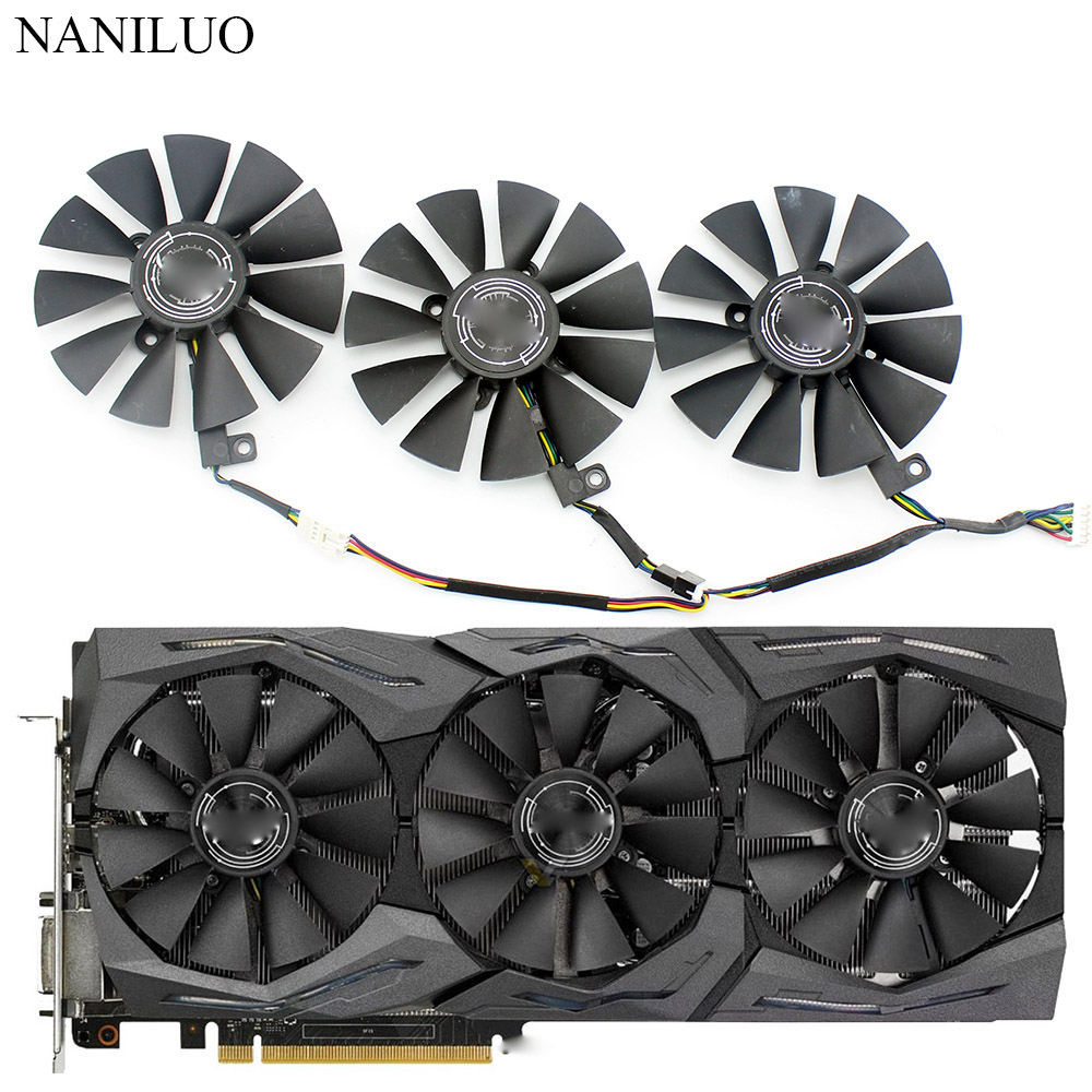 New 87MM PLD09210S12M PLD09210S12HH Cooling Fan Replace For ASUS RX VEGA64 VEGA56 64 RX 580 Fan GTX 1080Ti  Graphics Card Fan