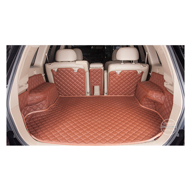custom fit pu leather car trunk mat cargo mat for toyota highlander toyota Kluger 2008 2009 2010 2011 2012 2013 5d cargo liner car rear trunk security shield shade cargo cover for toyota highlander 2009 2010 2011 2012 2013 2014 2015 2016 2017 black beige