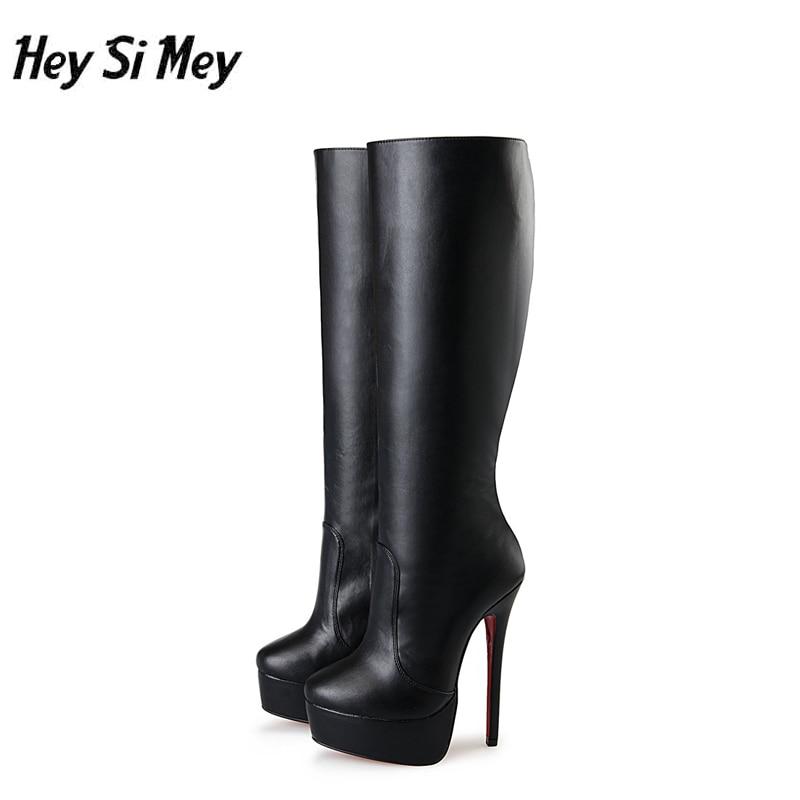Super haut talon 16 cm femmes bottes grande taille 40-48 femme chaussures haute plate-forme mode sexy style femmes botte genou haute femmes botteSuper haut talon 16 cm femmes bottes grande taille 40-48 femme chaussures haute plate-forme mode sexy style femmes botte genou haute femmes botte