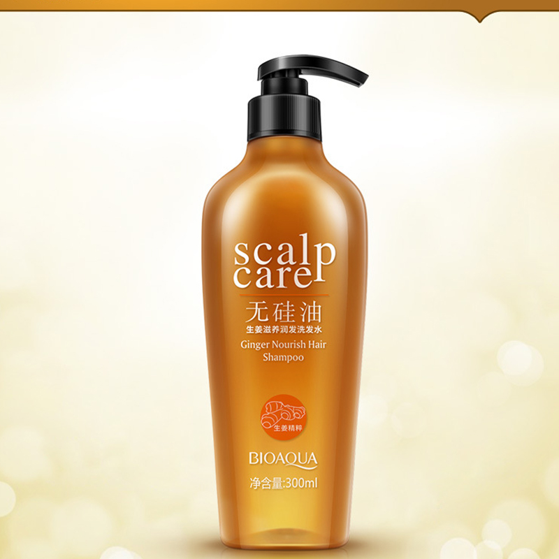 Ginger Extract Nourishing Healthy Hair Without Silicone Oil Shampoo Salubrious Oil-contr ...