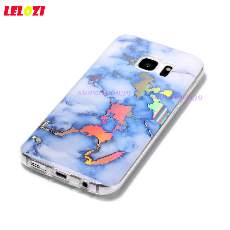 LELOZI Art Vintage Glossy Girls Female Soft Accessories Back Marble TPU Plating Case Carcasa For Samsung Galaxy S7 5.1 Stone