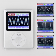 DSO168 Portatile mini tasca portatile ultra piccolo oscilloscopio digitale 20M di larghezza di banda 100M frequenza di campionamento