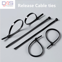 100pcs 7x200pcs  Releasable/reusable Plastic Zip Cable Wire Tie for Organization/Management