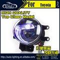 AKD Car Styling Angel Eye Fog Lamp for Toyota Highlander LED DRL Fog Light Daytime Light High Low Beam Automobile Accessories