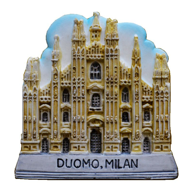 Hot Sale Milan Cathedral Of Italy Aromatherapy Hand-Painted 3D Fridge Magnets Travel Souvenirs Refrigerator Magnetic Sticker