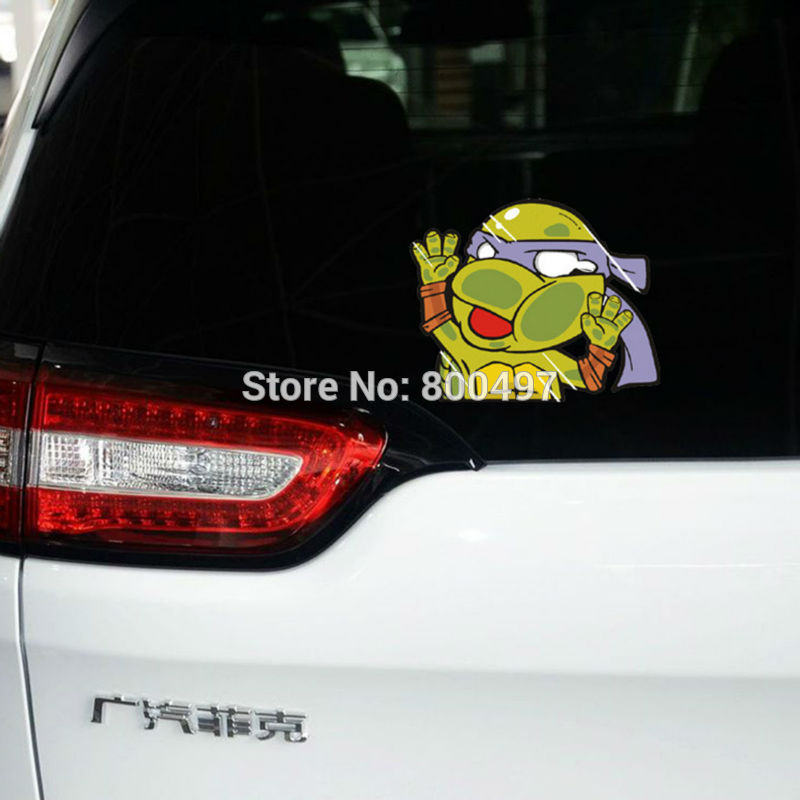 10 x car styling funny ninja turtles leonardo raphael michelangelo donatello car sticker car body decal in car stickers from automobiles motorcycles on