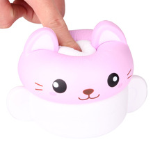 Купить с кэшбэком 2019 New Kawaii Squishy  Cartoon Cup Cat Slow Rising Reduce Pressure Stress Relief Kids Squeeze Toy Gift For Children