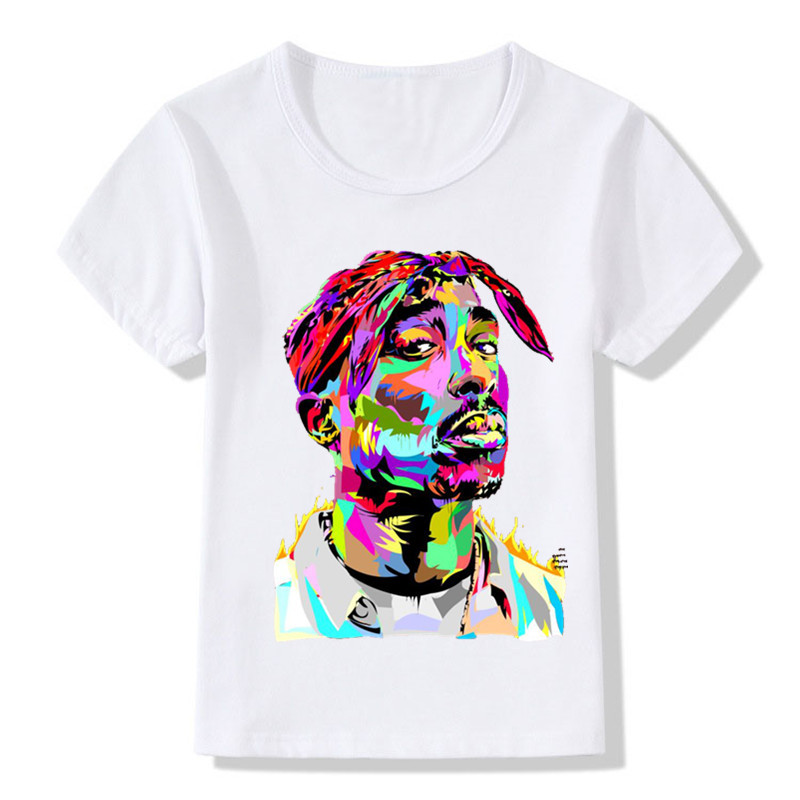 Children Tupac 2pac Printing T-shirts Kids Hip Hop Swag Printing T Shirts Girls And Boys 2pac Tops Tees Baby Tshirt,ooo287