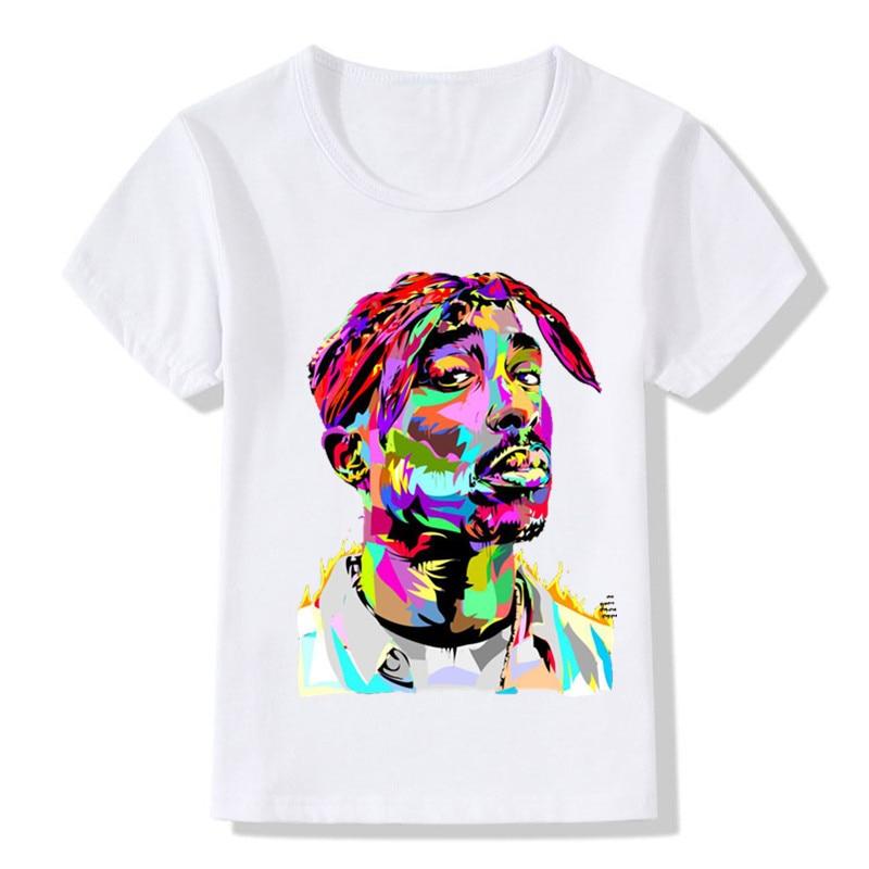 Children Tupac 2pac Printing T-shirts Kids Hip Hop Swag Printing T Shirts Girls And Boys 2pac Tops Tees Baby Tshirt,ooo287