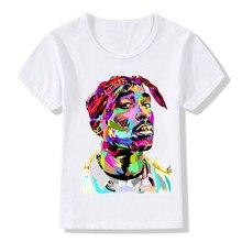 Children Tupac 2pac Printing T-shirts Kids Hip Hop Swag Printing T shirts Girls And Boys 2pac Tops Tees Baby Tshirt,ooo287 2pac 2pac 2 pacalypse now 2 lp