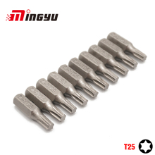 "10Pcs 1/4"" 25mm Torx T25 Screwdriver Bit Set Repair Too"