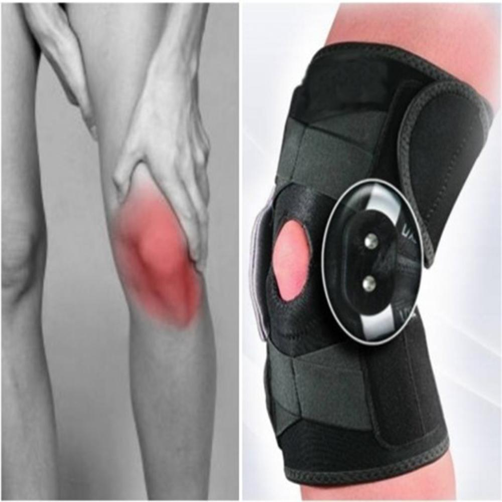 Professional Sports Safety Knee Support Brace Stabilizer With Adjustable Hinged Knee Support Pad Guard Breathable Knee Protector