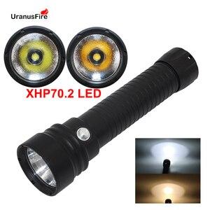 Image 1 - Đèn Lặn Đèn Pin XHP70.2 LED Bổ Nhào Đèn Pin Đèn Dưới Nước 100M NEW32650Diving Flashlgiht Đèn Pin Sử Dụng 2*32650/26650