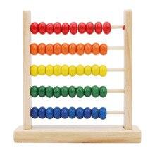 Мини-Деревянные игрушки Abacus для детей, для раннего обучения математике, игрушки для подсчета чисел, счетные бусины Abacus Монтессори, обучающая игрушка