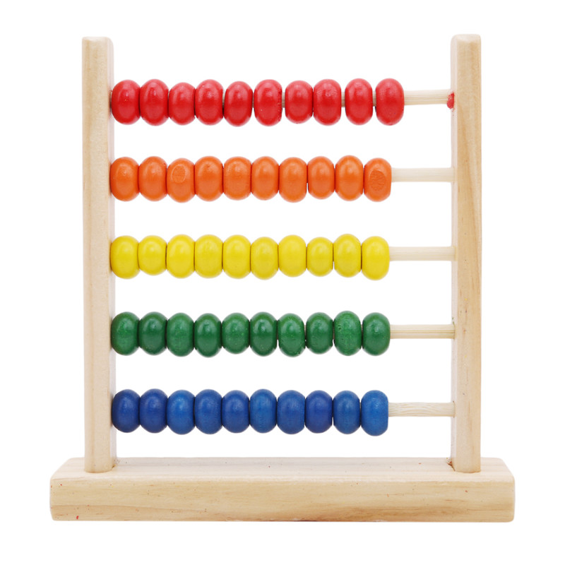 Mini Wooden Toys Abacus Children Early Math Learning Toy Numbers Counting Calculating Beads Abacus Montessori Educational Toy(China)