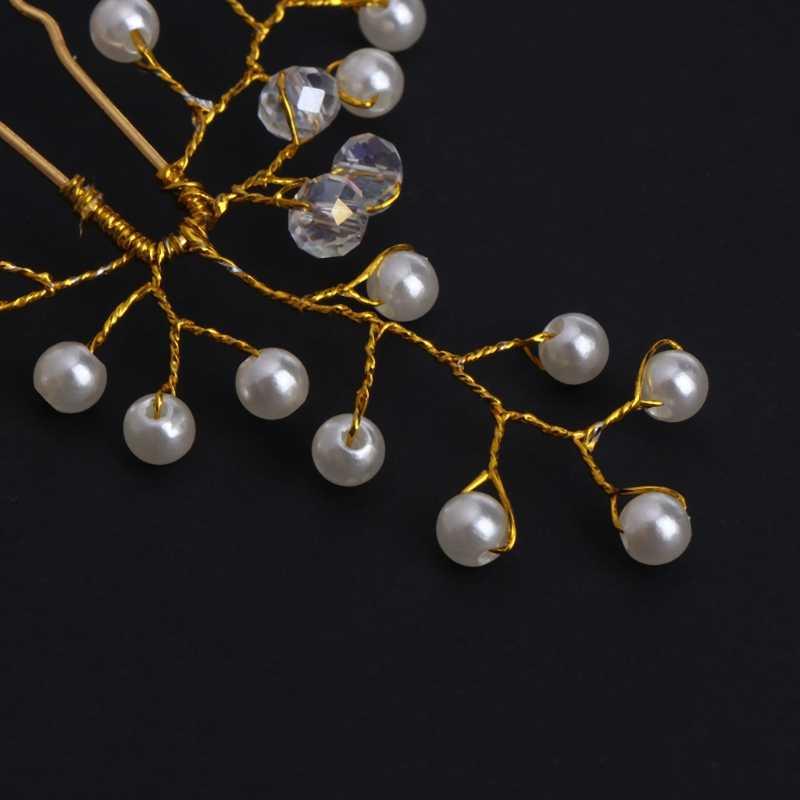 Mariée épingles à cheveux pince de mariage alliage Faux perle bijoux coiffure mariée à la main