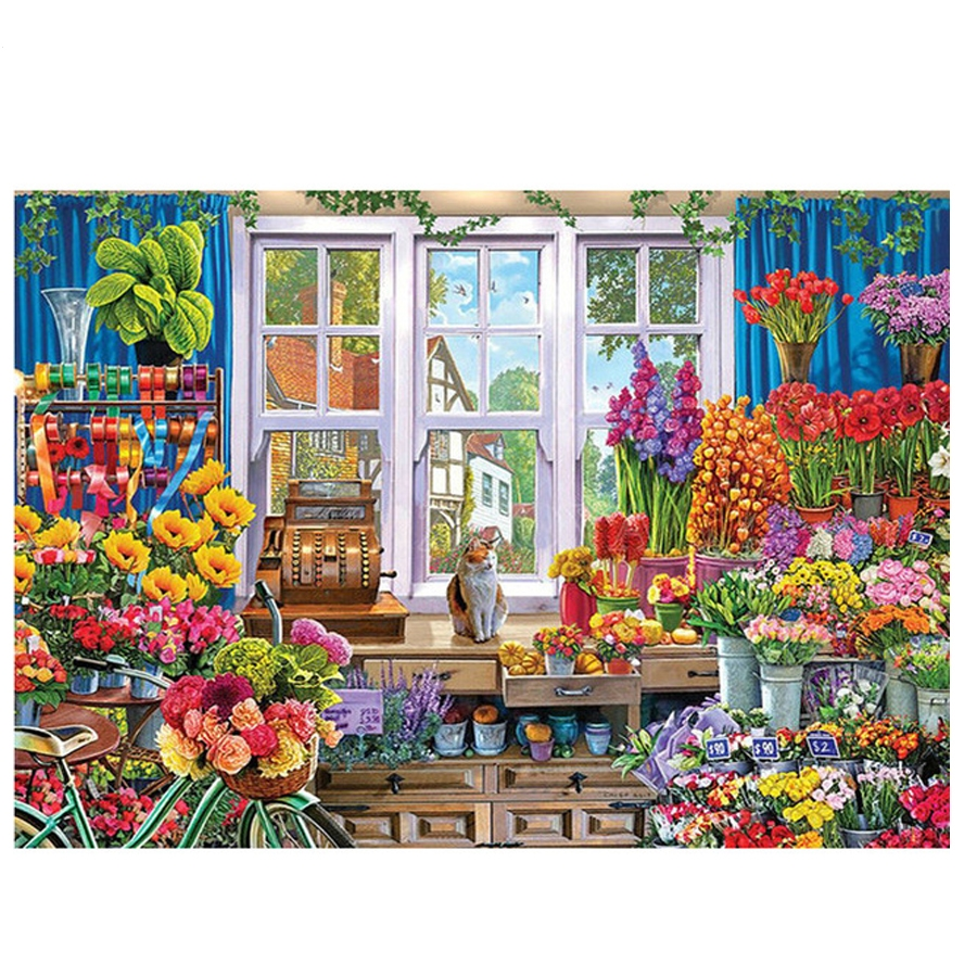 Garden flowers 5D Diy Diamond Painting Full Square Pattern Daimond Embroidery,Mosaic picture of Rhinestones Crafts Z620