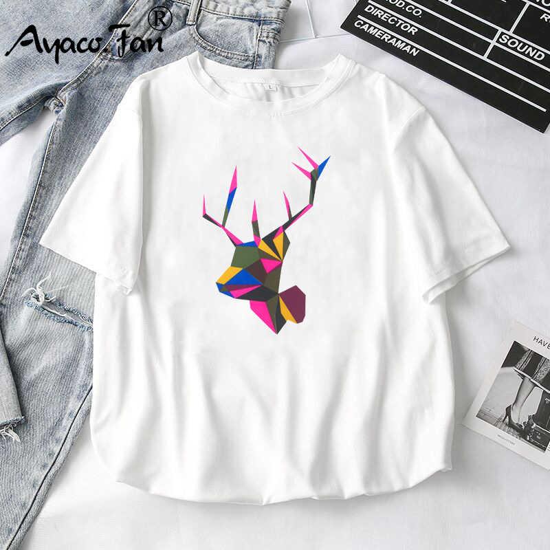 Donne T-Shirt 2019 Estate Nuovo Animale Sveglio Delle Ragazze Stampato Magliette e camicette Tee Femmina T-Shirt Manica Corta maglietta Bianca per la Signora Casual top