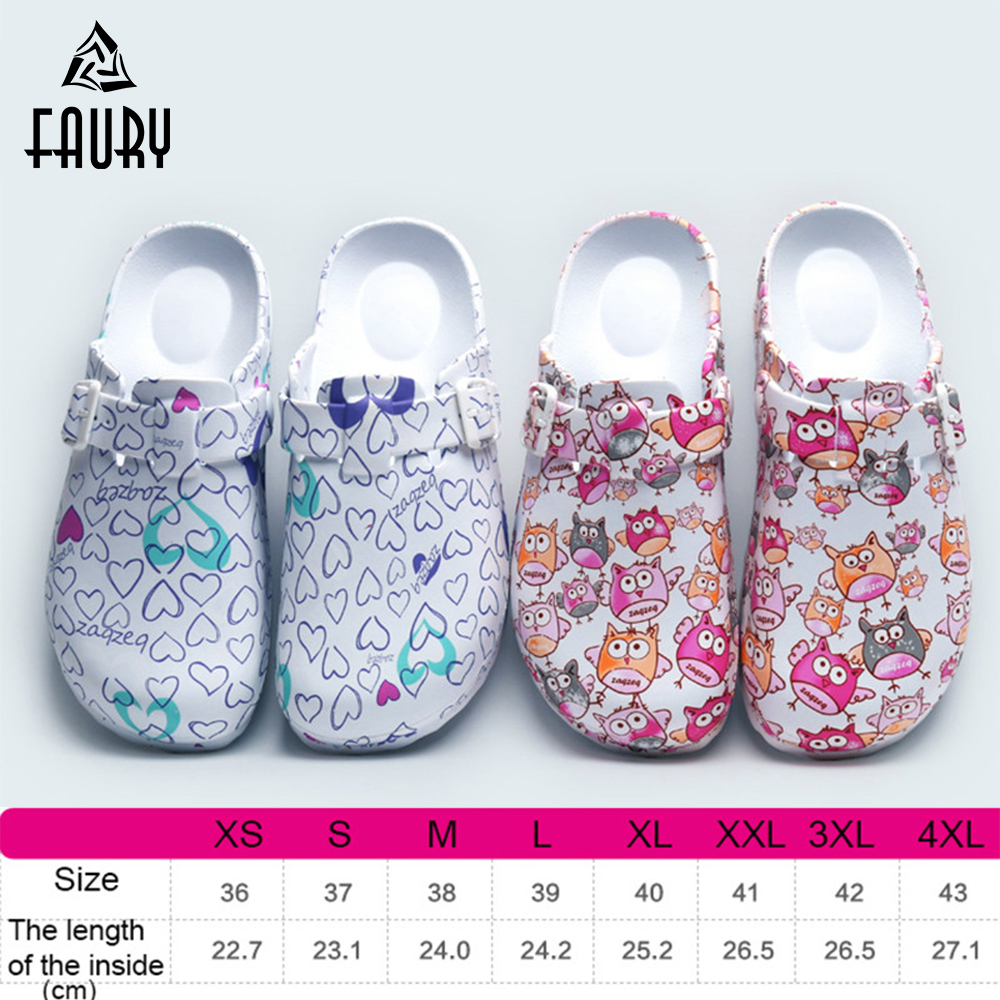 High Quality EVA Hospital Surgical Shoe Medical Print Slippers Doctor Nurse Lab Work Non-slip Shoes Beach Footwear Comfy Slipper