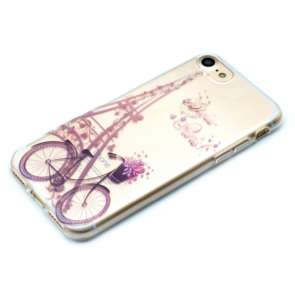 Για Iphone7 Cute Cartoon Butterfly Girl Bicycle TPU Soft Fundas - Ανταλλακτικά και αξεσουάρ κινητών τηλεφώνων - Φωτογραφία 5