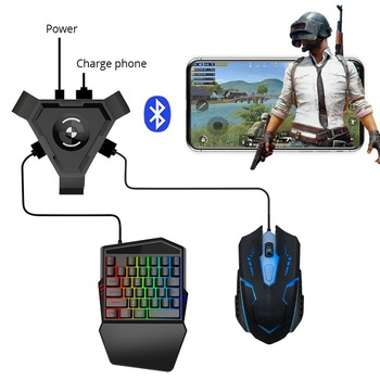 Bluetooth 4.1 Plug And Play PUBG Mobile Gamepad Controller Gaming Keyboard Mouse Converter For Android ios Phone to PC