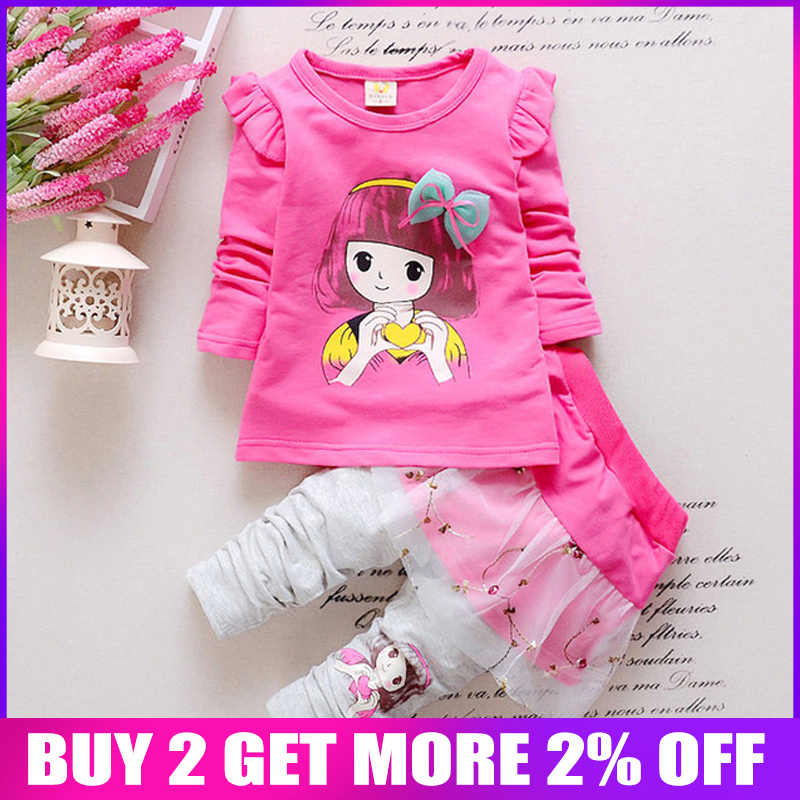 Autumn Toddler Kids Baby Girl Velvet Top Sweatshirt Pants Outfits Clothes Set UK