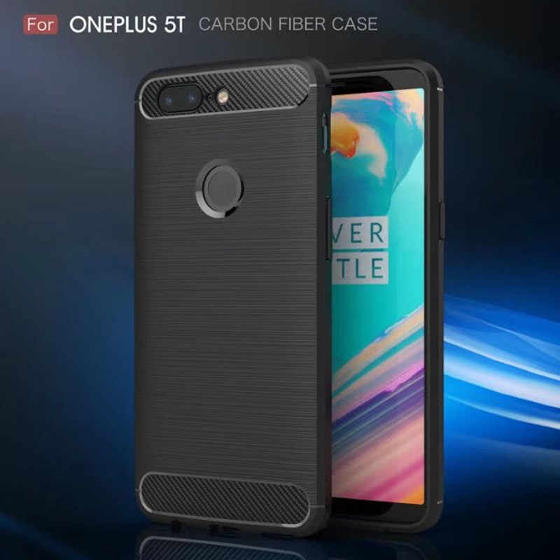 ba296d56760 Oneplus 5T Case Oneplus 5 Case Cover Luxury Brushed Coque Soft Silicon  TPU+PC Back
