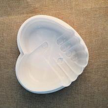 Любовь рук в руки силиконовые Мусс плесень шоколад формы для выпечки Силиконовые Помады Формы для тортов многослойный Топ Белый Плесень Сахар Craft Инструменты