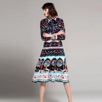 European And Us 2018 Early Spring Women S Wear Brands Show Retro And Abstract Floral Print