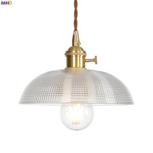 Image 4 - IWHD Copper Nordic Glass Pendant Light Fixtures Dinning Living Room Hanging Lamps LED Pendant Lighting Lampara Colgante Lampen