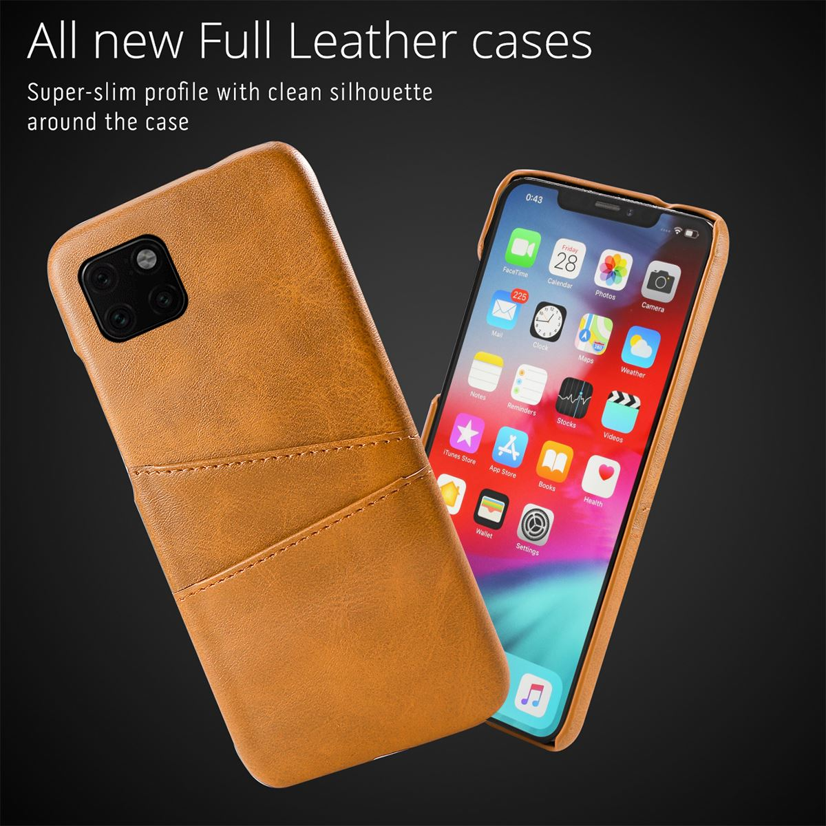 Torubia Leather Card Holder Case for iPhone 11/11 Pro/11 Pro Max 6