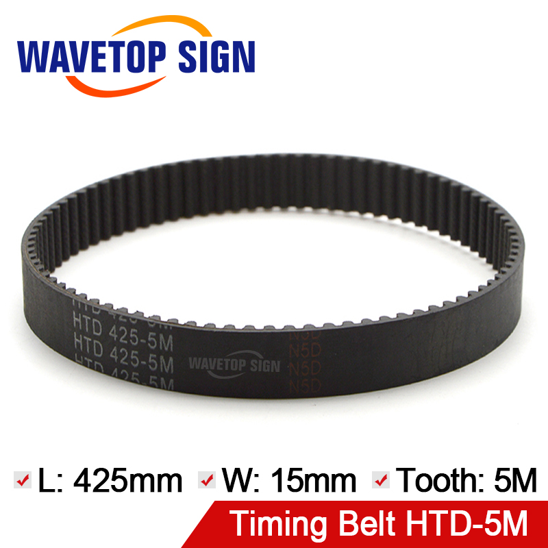 WaveTopSign Belt Rubber Belt HTD 425-5M-15 5Mtooth Length 425mm Width 15mm Timing Belt Pulley Timing Belt belt