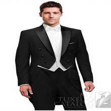 The double breasted Tuxedo Dress collar men's Wedding Dress Dance / Groomsmen groomsman form / groom (jacket + pants + tie + VE