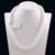 2015 Natural 100% Collar de Perlas Genuinas Madre Precioso Regalo Redondo Blanco Rosado Púrpura de La Perla Collar de Gargantilla de Joyería