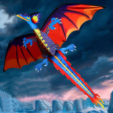 Kitesurf 3D Dragon Kite Kids Toy Fun Outdoor Flying Activity Game Children With Tail Cool Exquisite Fun Kids Toys for Children