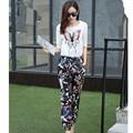 Европа 2015 лето женщин новая мода белье вышивка пять бабочка Tencel рукава женский оптовая