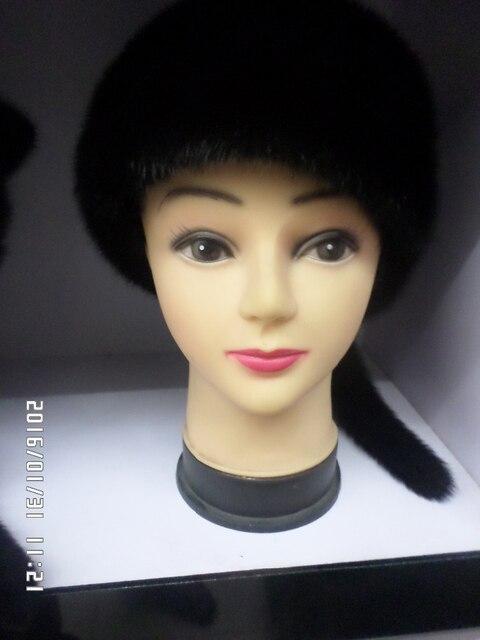 НОВЫЙ натуральный мех норки женская мода hat теплая зима freeshipping