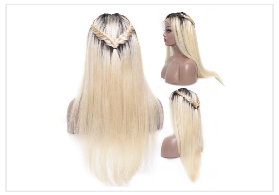 ombre blonde Lace Front Wig2