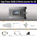 3 Г усилитель сигнала Высокой Мощности 80dBi 2100 мГц умный мобильный усилитель сигнала повторитель 3 Г сотовый усилитель сигнала WCDMA 3 г ретранслятор