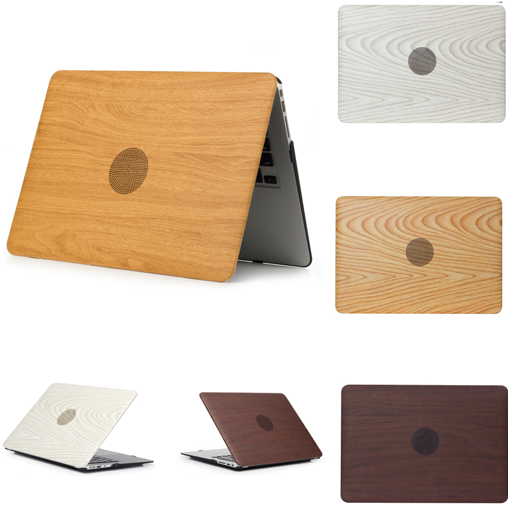Wood Grain Shell Laptop Cover Case For Apple mac Air 13 Case Air 11 Pro 13 Retina 12 13 15 Laptop Sleeve For macbook Pro Case