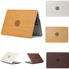Wood Grain Shell Laptop Cover Case For Apple mac Air 13 11 Pro Retina 12 15 Sleeve macbook