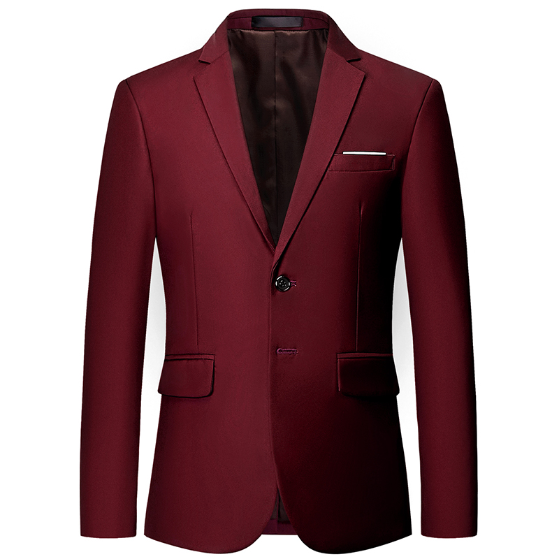 (10 Colors) High Quality Men's Blazer Men's 2019 New Men's Slim Solid Color Suit Jacket Fashion Business Large Size Suit Men's