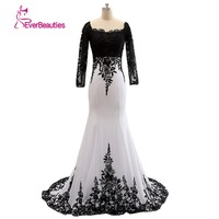Real Sample Dress 2015 Bead Dubai Arabic Evening Dress Satin Black Formal Evening Gowns Mermaid Robe