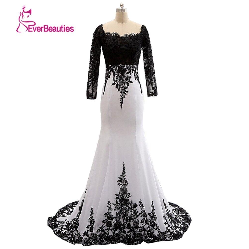 Robe De soirée échantillon réel Robe 2019 perle Robe De soirée musulmane Satin noir robes De soirée formelles Robe De soirée sirène