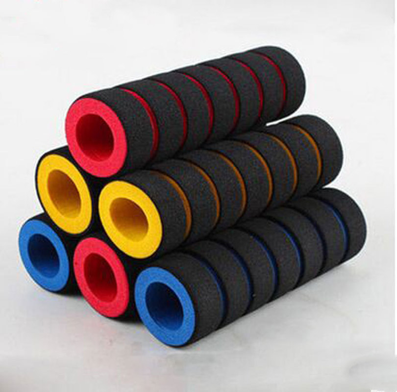 2Pcs / 1 Pair Bike Racing Bicycle Motorcycle Handle Bar Foam Sponge Grip Cover Non-slip Mountain Bike Accessories