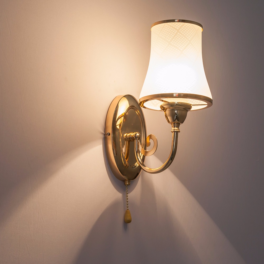 HGhomeart Wall Lamp E27 Modern Wall Sconce Iron Luminaria Wall Mounted Bedside Lamps Fixtures Loft Home Lighting Reading Lamps