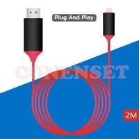 USB 3.1 USB para HDMI C Tipo de Cabo C a Gráficos De Vídeo Conversor HDMI 4 K 30Hz UHD Externo Estender Cabo/Adaptador 2 m