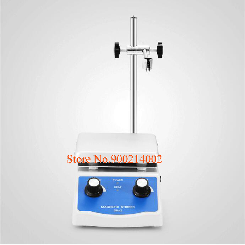 SH 2 Hot Plate with12*12cm Laboratory Magnetic Stirrer Mixer Thermostatic 110/220V Stirring Rod Plating Lab Power Tool-in Power Tool Accessories from Tools    1