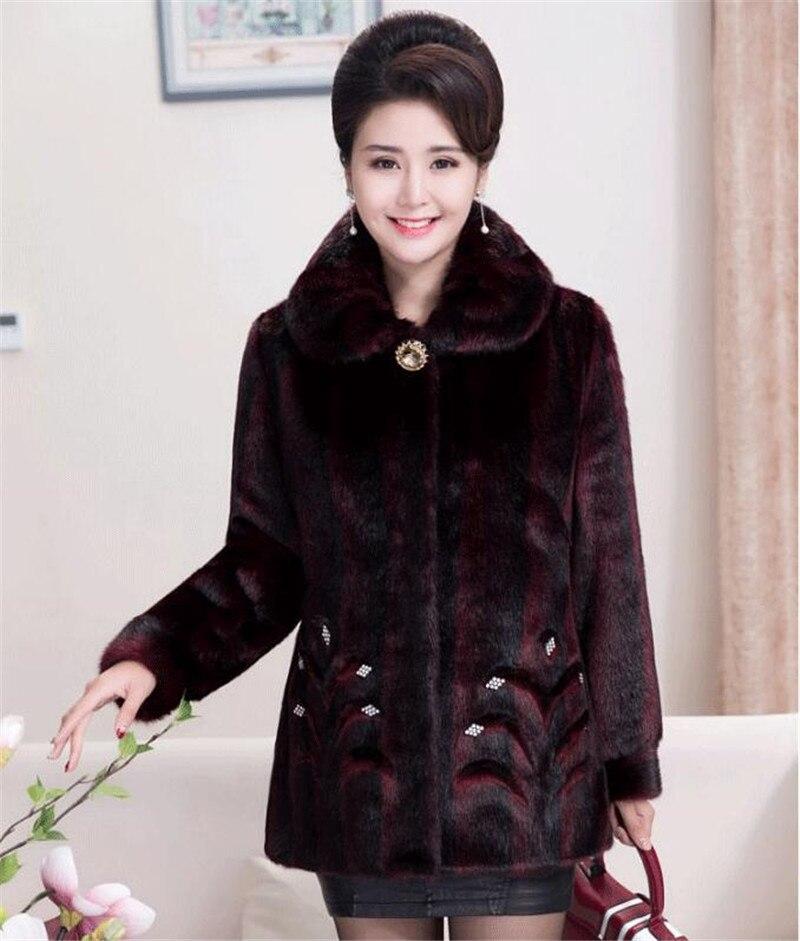 HTB1SgR5BZuYBuNkSmRyq6AA3pXaR 2020 Winter Women's Fur Coat Faux Mink Fur Jackets Plus size 5XL Middle aged Female Diamonds Thicken Noble Fur Coats OKXGNZ 2138